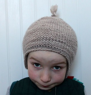 Garter Earflap Hat By Brienne