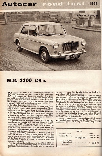 MG 1100 Road Test 1962 (1)