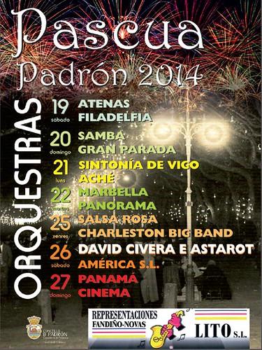 Padrón 2014 - Pascua - cartel orquestras