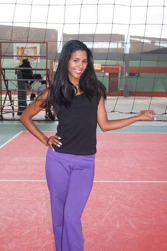 La voleibolista peruana Rocio Miranda