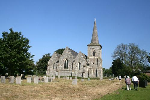 The church on Foulness Island