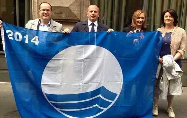 paolo l'abbate vitto maria centrone tenente di palma bandiera blu polignano 2014