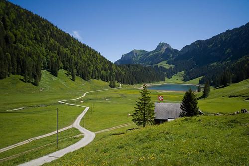 lake nature landscape schweiz switzerland see europe suisse hiking 28mm rangefinder trail svizzera mountainlake bergsee appenzell wanderung m9 wanderweg alpstein 2014 svizra hoherkasten sämtisersee elmaritm appenzellinnerrhoden messsucher 140607 ©toniv leicam9 l1016675