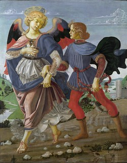 Andrea del Verroccio, Tobias and the Angel. c.1470-1475.