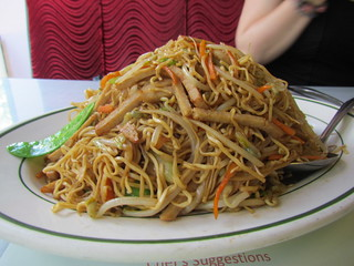 Chicken Chow Mien at Bamboo Garden