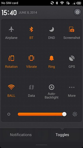 QuickSettings ของ Xiaomi MI3
