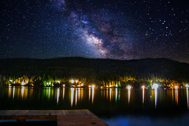 Donner Lake Milky Way