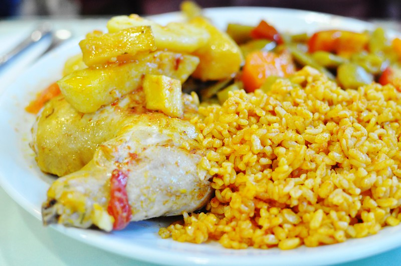 rice and chicken