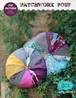 patchwork poufs