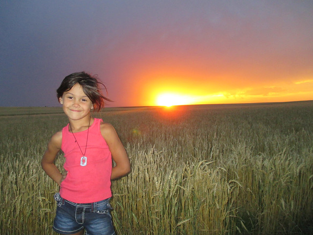Kaidence and the nice sunset