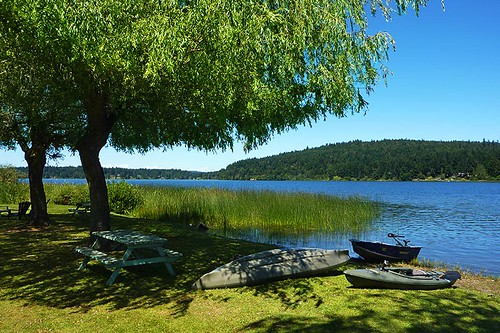 St. Mary's Lake, Saltspring Island, Gulf Islands, Georgia Strait, British Columbia, Canada