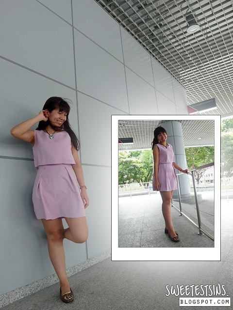 65daigou taobao korean dress in pastel purple