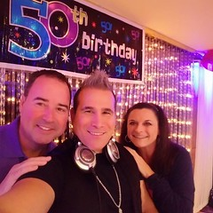#djchef #thechefthatrocks servin up the beats for a #Fab50 #birthdayparty today in #oceanside #longisland ! - - - - #birthday #party #foodnetwork #cutthroatkitchen #topchef #eventprofs #myilea #mpi #promo #cookingparty #cookingclass #dj #celebritychef #ro