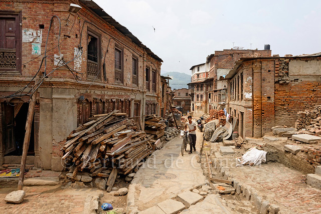 One year after the earthquake, Bhaktapur