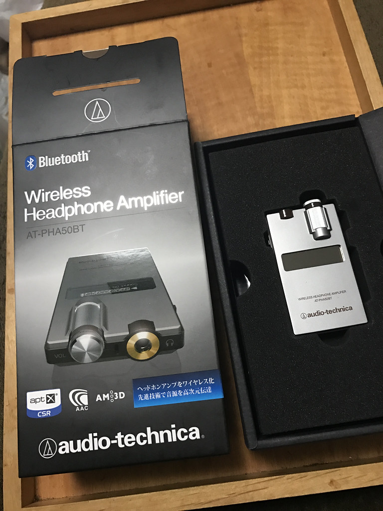 audio-technica ワイヤレスヘッドホンアンプ AT-PHA50BT