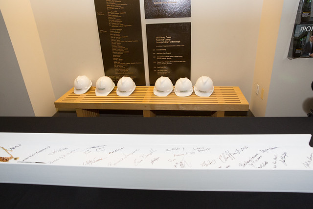 Signing of Final Beam for New Pittsburgh Playhouse