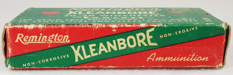 RD14567 Vintage Remington KLEANBORE 30-30 Express 150 gr. Soft Point SMOKELESS Ammo Box & 20 Brass Casings DSC06990