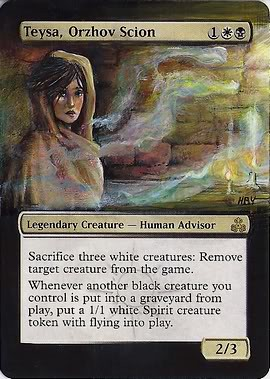 Teysa Orzhov Scion magic the gathering altered art Commander general EDH Demonium71