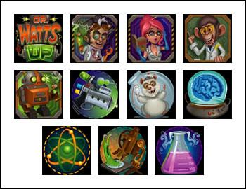 free Dr Watts Up slot game symbols