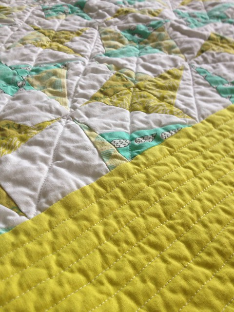 Diagonal Quilting Detail