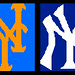 Yankees Mets Logo Cheese Mosaics by Joel.Baker