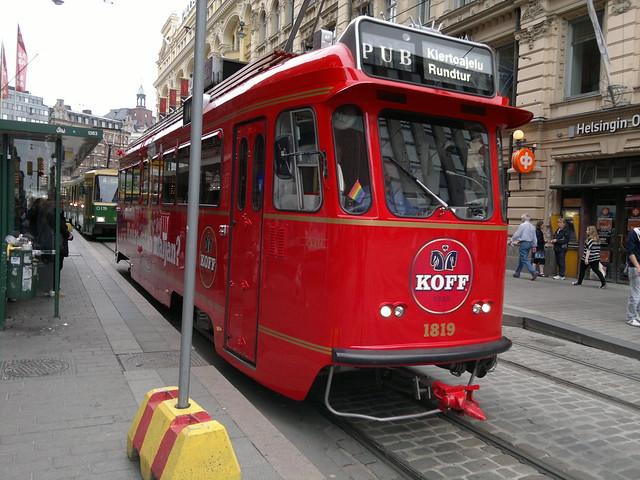 Tranvía Koff de Helsinki