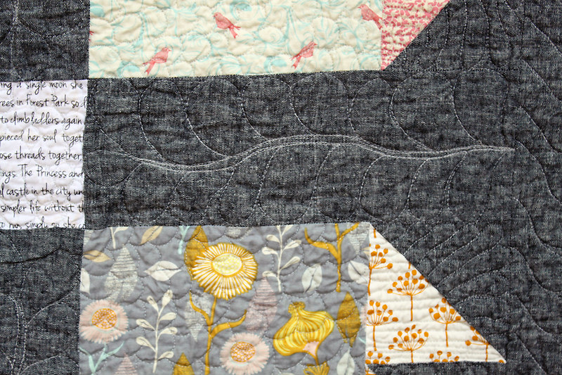Tooth & Claw lap quilt