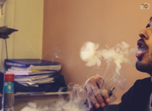 pictures while smoking shisha
