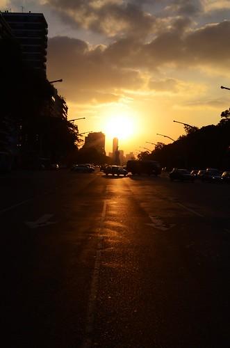 BA sunset