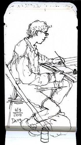 Urban sketcher Dave