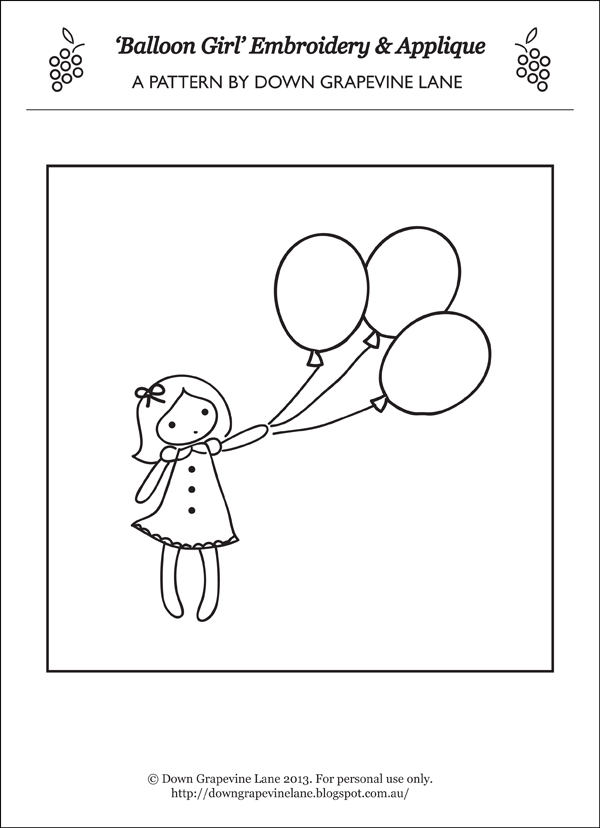 Balloon girl final pattern