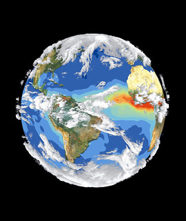 Satellite Image of Earth's Interrelated Systems and Climate