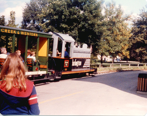 Chicago's Brookfield Zoo train.  Brookfield Illinois.  September 1982. by Eddie from Chicago
