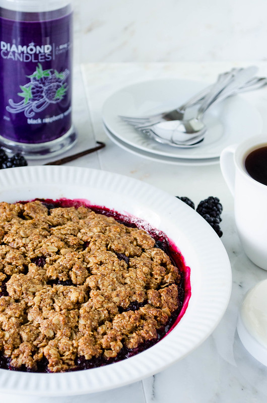 Blackberry Vanilla Crisp (Gluten Free) | cooking ala mel