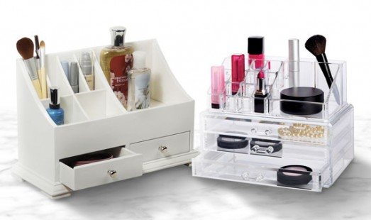 organizer organizers clear acrylic cheap sale inexpensive make up Hautelook Hautelook.com makeup