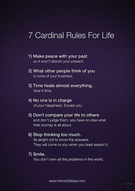The cardinal rules of dating