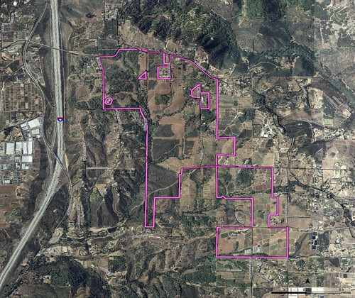the project's boundary and context (courtesy of San Diego County, Draft Environmental Impact Report)