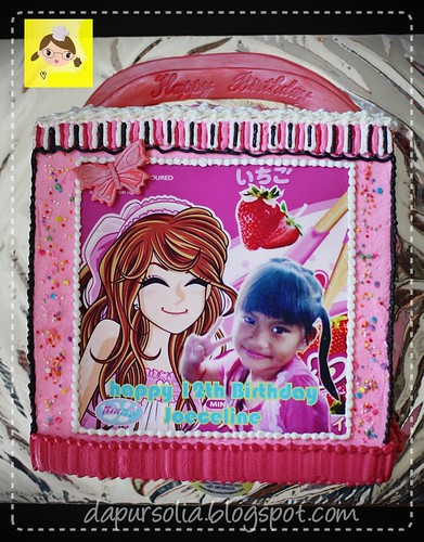 Birthday Cake with Edible Image for Joeceline