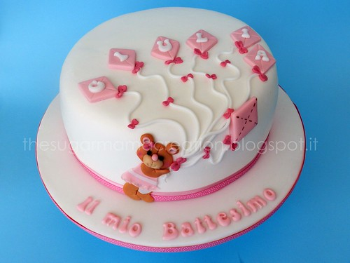 Baptism cake for my little Giulia