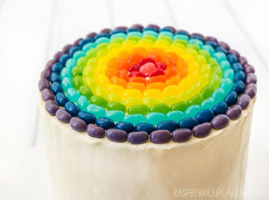 Raspberri Cupcakes: Rainbow Cake With Jelly Beans