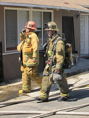 Two Firefighters Injured, Family Displaced by North Hills Blaze © Photo by Greg Doyle, click to view more...