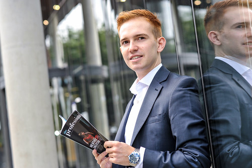 Graduate John Macleod launches a business magazine called The Professional at Leeds Metropolitan University 19/09/13.
