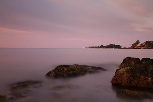 ocean longexposure morning sea sky seascape sunrise landscape dawn rocks connecticut le branford longislandsound shortbeach bw110nd30