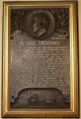 Richard Trevithick Memorial, Holy Trinity, Dartford, Kent