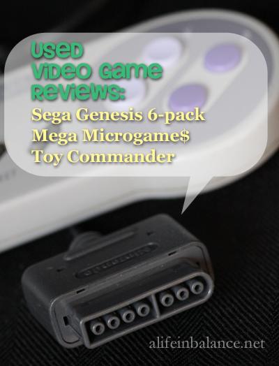 Used Video Game Reviews: Sega Genesis, Mega Microgames, Toy Commander
