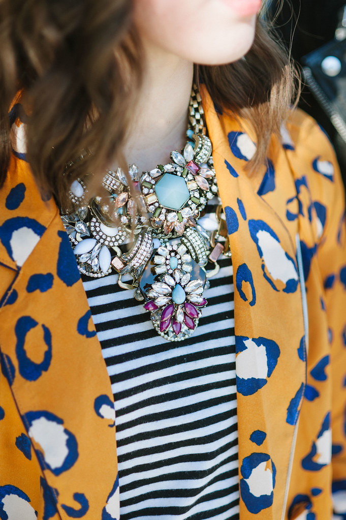 layered necklace, statement necklace, phillip lim for target leopard