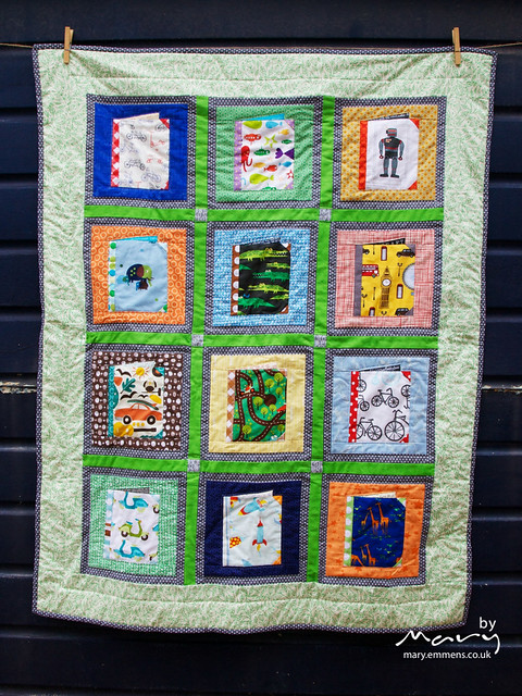 Books for baby finished quilt