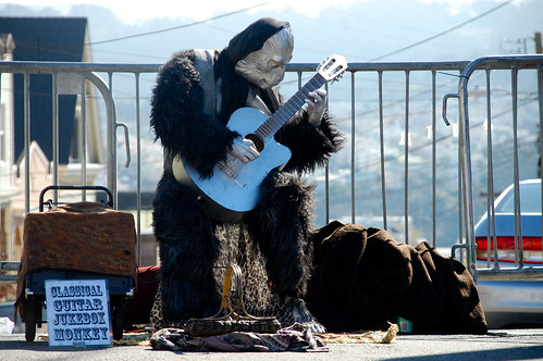 Classical Guitar Jukebox Monkey