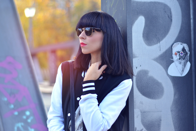 DefShop College Jacke Bomber Jacket CATS & DOGS fashion blog Berlin 1