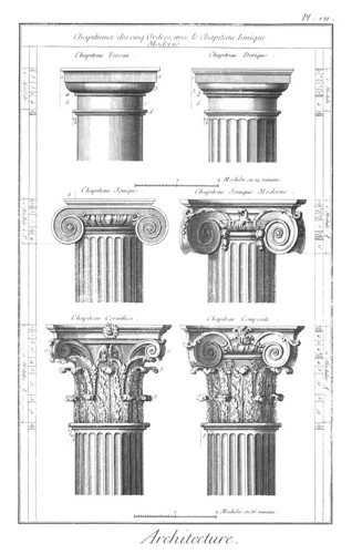 18里面所展示的建筑柱式渲染图